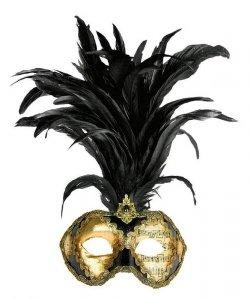 Maska wenecka - Colombina Strucco Piume VI