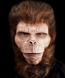 Maska klejona na twarzy - Szympans Deluxe