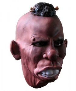 Maska lateksowa - Zulus