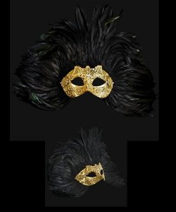 Maska wenecka - Colombina Piume Macramè EWS
