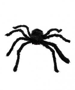 Dekoracja na Halloween - Czarny Pająk 60 cm