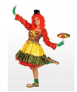 Profesjonalny strój klauna - Pani Klaun Parasolka