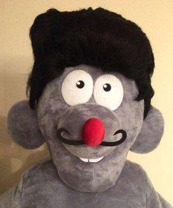 Głowa chodzącej maskotki - Pan Szczurek