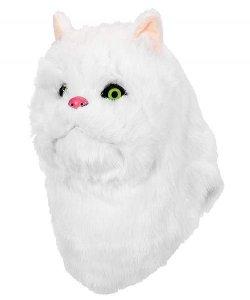 Maska lateksowa - Biały Kot