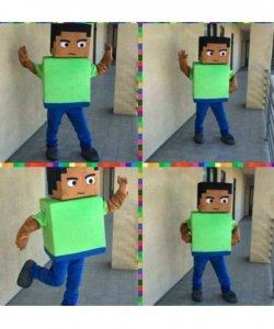 Chodząca żywa duża maskotka - Minecraft Steve