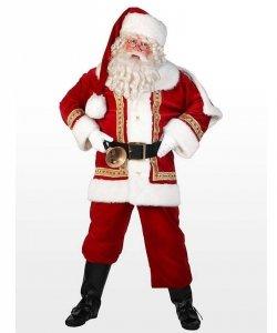 Profesjonalny kostium świąteczny - Święty Mikołaj Deluxe
