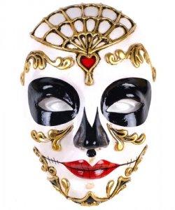 Maska wenecka - Volto Morte Red