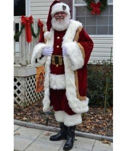 Profesjonalny strój Świętego Mikołaja - Św. Mikołaj Premium XI