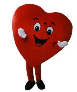 Strój chodzącej maskotki - Serce IX