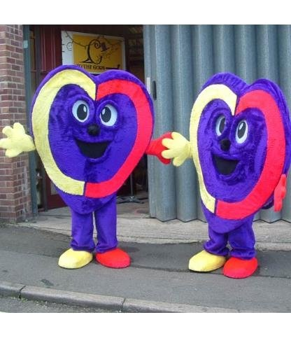 Chodząca maskotka - Wielki Walentynkowy Lizak Serce