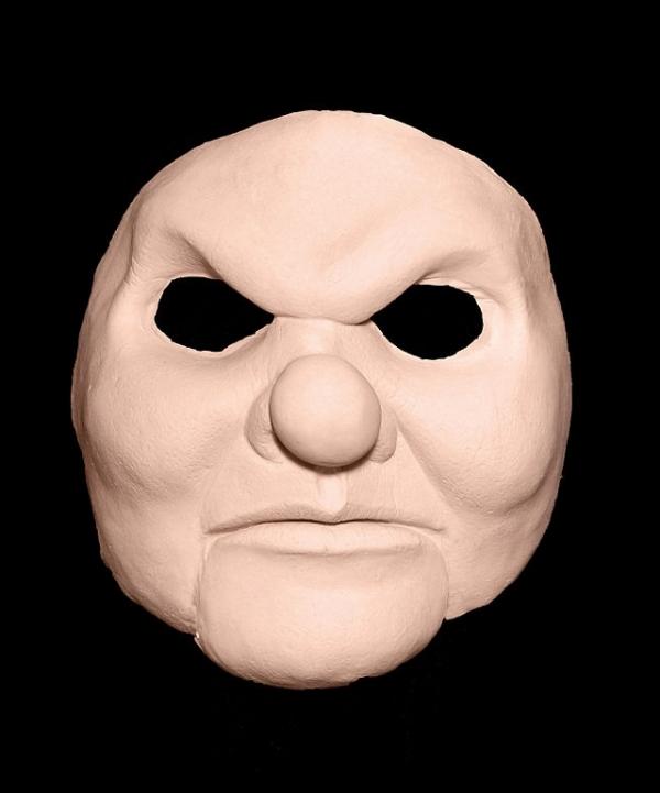 Maska klejona na twarzy - Horror Klaun Deluxe