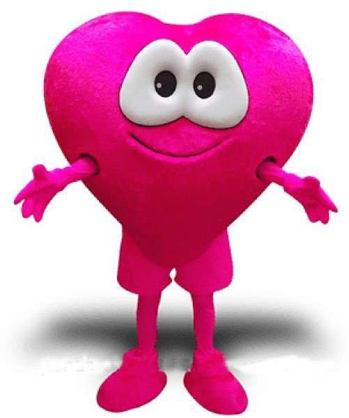 Strój chodzącej maskotki - Serce Różowe