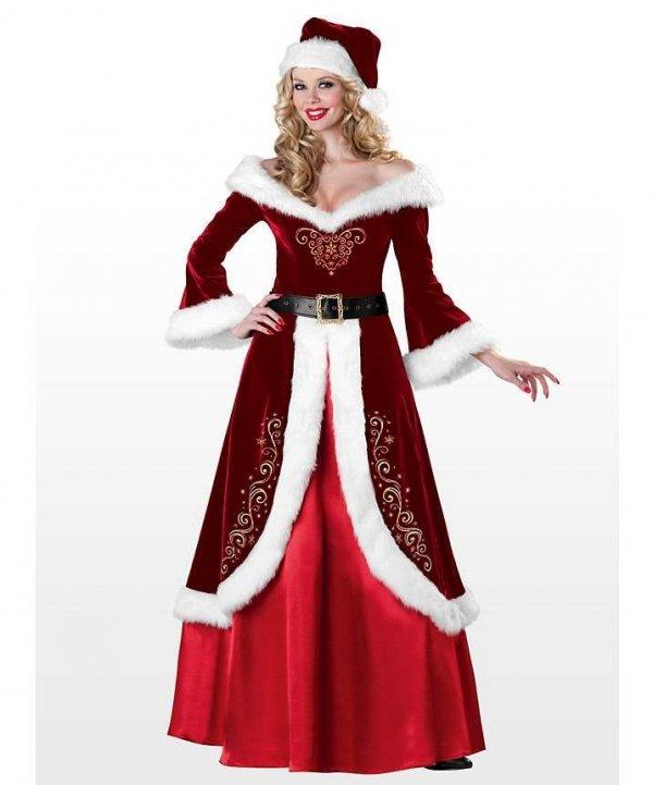 Profesjonalny kostium świąteczny - Pani Mikołajowa Jolly Ole