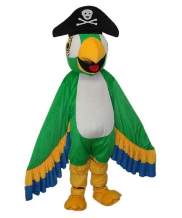 Strój reklamowy - Papuga Pirat zielona