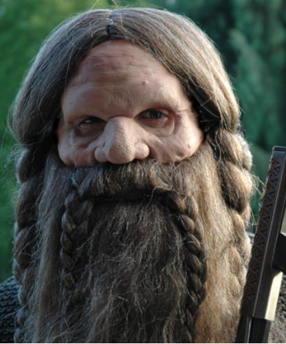 Maska klejona na twarzy - Krasnolud