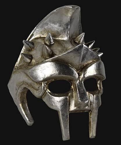 Maska wenecka - Gladiatore Silver