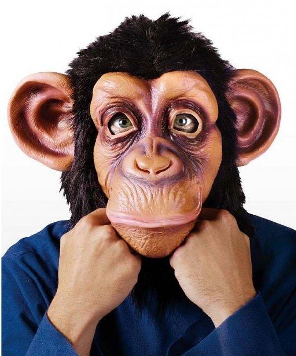 Maska lateksowa - Szympans George