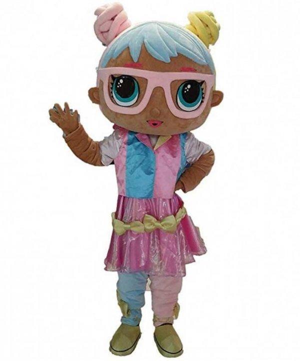 Chodząca żywa duża maskotka Kostium reklamowy Event LOL Doll Bonbon