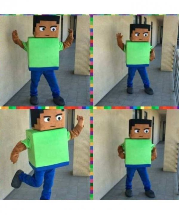 Żywa Chodząca Maskotka Kostium reklamowy promocyjny Strój Minecraft Steve