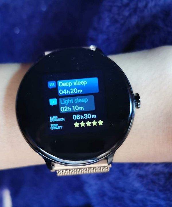 Inteligentny zegarek TUW - funkcja pomiaru parametrów snu