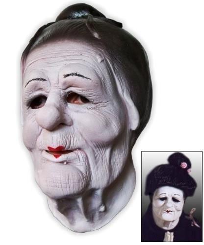 Maska lateksowa - Gejsza