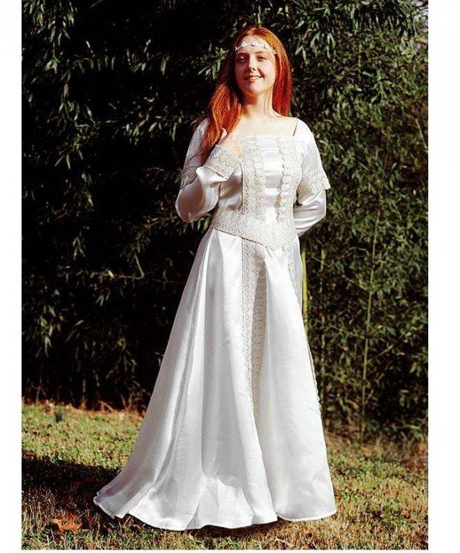 Kostium teatralny - Średniowieczna Suknia Ślubna