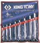 KLUCZE OCZKOWE ODGIĘTE 75° 8cz. 6-23mm KING TONY