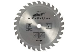 Wolfcraft Piła tarczowa 130x16mm 18z. HM dokładne cięcia