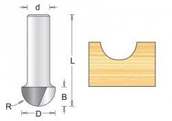 Frez wyokrąglający 12.7x38x6.3mm, chwyt 8mm