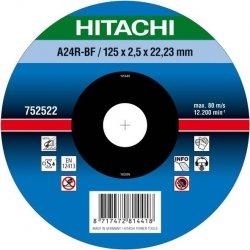 HITACHI Tarcza do cięcia metalu stali 125x2,5x22,2mm wypukła - PREMIUM