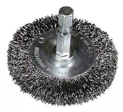 HITACHI Szczotka kołowa z trzpieniem 100x1/4BITx0,3mm falowana