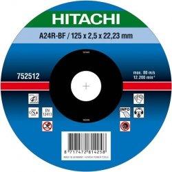 HITACHI Tarcza do cięcia metalu stali 115x2,5x22,2mm płaska - PREMIUM