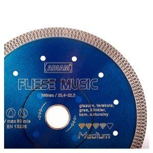 Adiam tarcza diamentowa FLIESE MUSIC Ø180mm x 25,4-22,23mm