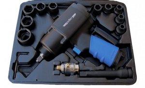 Klucz udarowy pneumatyczny ADLER 1350Nm 1/2 + Nasadki 10 szt. Zestaw Z10
