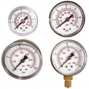 ADLER Wskaźnik ciśnienia 0-20bar 1/4 - boczny