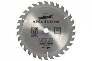 Wolfcraft Piła tarczowa 160x16mm HM 20 z. dokładne cięcia