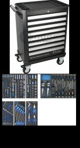 Condor Wózek narzędziowy 8 szuflad + 187 narzędzi