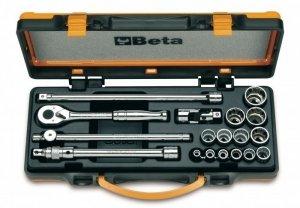 Beta 910AS/MBM-C18 Zestaw nasadek 3/8 z wyposażeniem 18szt