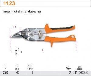 Beta 1123 Nożyce dźwigniowe do blachy prawe 250mm