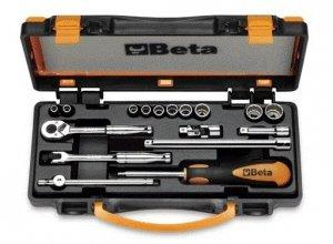 Beta 900AS/C17-MBM Zestaw nasadek 1/4 12-kątnych + akcesoria 17szt.