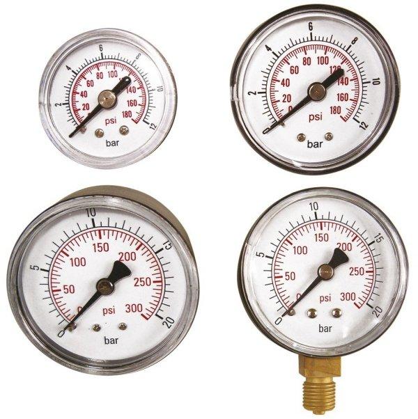 "ADLER Wskaźnik ciśnienia 0-20bar 1/4"" - boczny"