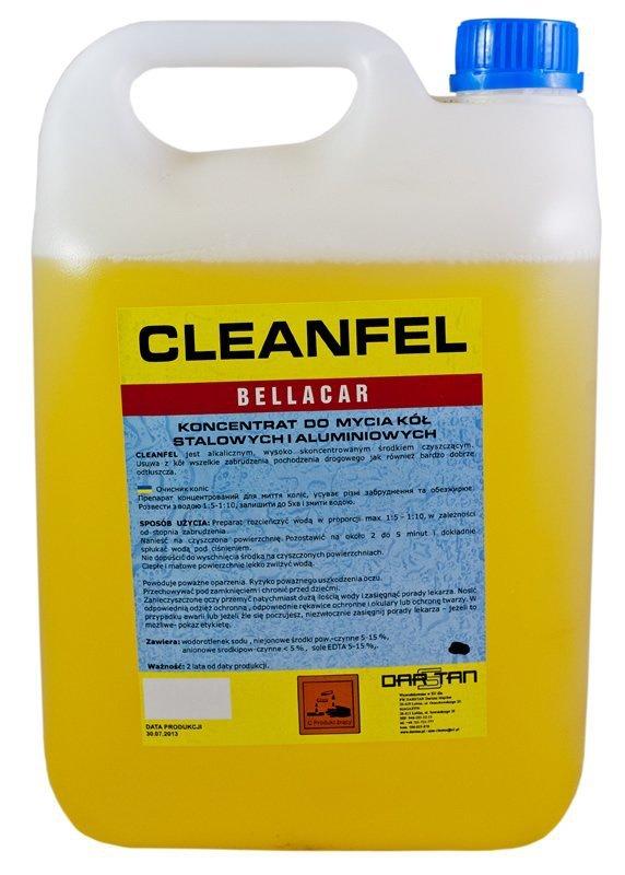 Płyn do mycia felg kołpaków 5kg CLEANFEL