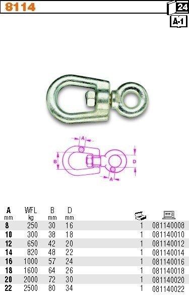 Robur 8114/10 Krętlik ucho-ucho 10mm WILL 300kg