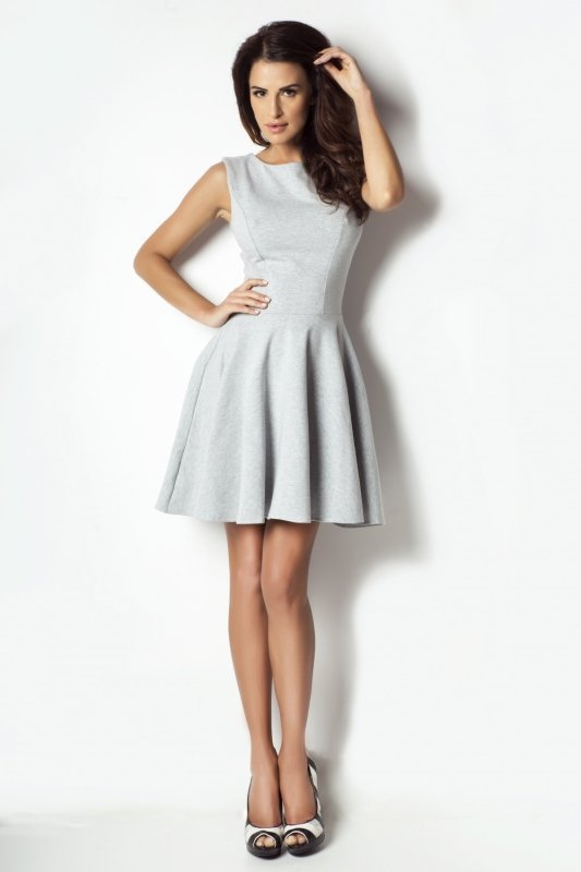 Sukienka rozkloszowana 183 - szary
