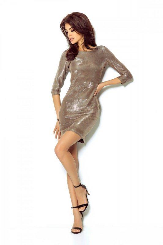 Błyszcząca Sukienka Cleo - złoty