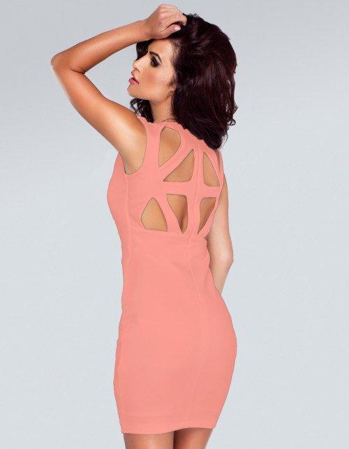 Sukienka Stacey - brzoskwiniowy