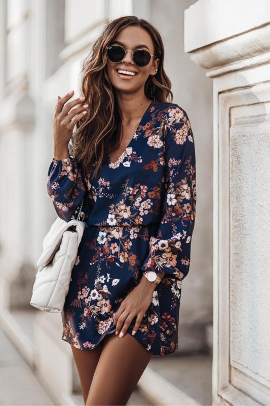 Sukienka Malvina - kwiaty