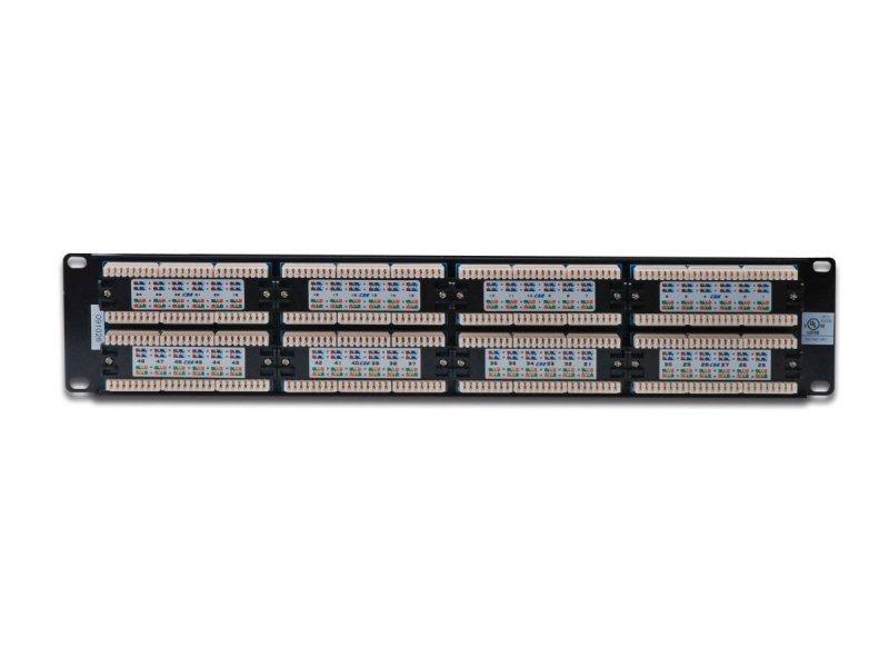 "Digitus Patch panel 19"" 48 portów, kat.5e, U/UTP, 1U, czarny (kompletny)"