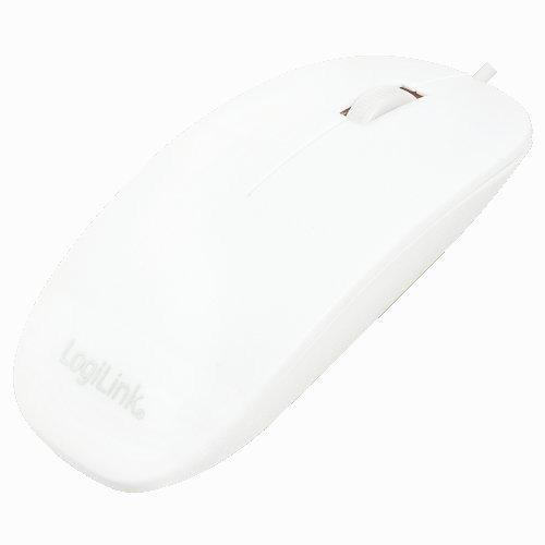 LogiLink Plaska mysz optyczna USB, biala