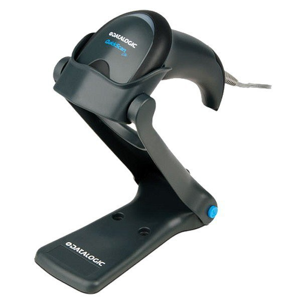 Datalogic Czytnik kodów QuickScan I QW2120/USB/czarny/podstawka/kabel